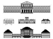 Kasztele, pałac i dworu wektoru ilustracja, Obraz Stock