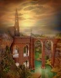 kasztelu jesienny krajobraz obraz stock