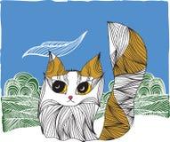 Kat in de aard stock illustratie