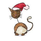 Kat de Kerstman Royalty-vrije Stock Foto's
