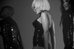 Kat DeLuna新的音乐录象想要发现您跳舞 免版税库存照片