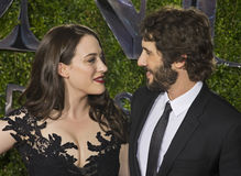 Kat Dennings and Josh Groban at 2015 Tony Awards Royalty Free Stock Photography