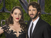Kat Dennings and Josh Groban at 2015 Tony Awards Royalty Free Stock Images