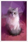 Kat die van mozaïekelementen wordt gemaakt stock illustratie