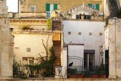 Kat in een binnenplaats van oude huizen in het centrum van Lecce, Salento - Italië Royalty-vrije Stock Afbeelding