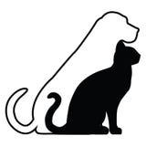 Kat en hond stock illustratie