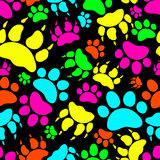 Kat en Hond Textielpatroon Naadloze vector royalty-vrije stock afbeeldingen