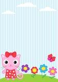 Kat en vlinder Stock Afbeelding