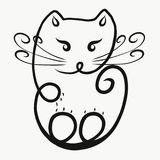Kat, krul royalty-vrije illustratie