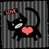 Kat in liefde Stock Foto's
