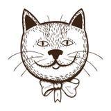 Kat met boog Stock Fotografie