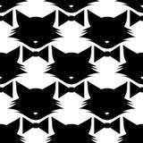 Kat met boogpatroon vector illustratie