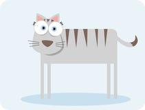 Kat met groot oog Royalty-vrije Stock Fotografie