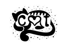 Kat met het van letters voorzien Royalty-vrije Stock Foto
