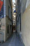 Kat-vissende Straat in Parijs royalty-vrije stock fotografie