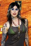 Kat Von D. Attends the Spike TV 2nd Annual Guys Choice Awards held at the Sony Pictures Studios in Culver City, California, United States on May 30, 2008 royalty free stock photography