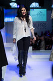 Kat von D clothing at Pure London. Designer Kat von D ends the presentation of her collection on the runway of Pure London at Olympia, London, UK on 12th Feb Royalty Free Stock Image