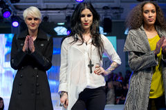 Kat von D clothing at Pure London. Designer Kat von D ends the presentation of her collection on the runway of Pure London at Olympia, London, UK on 12th Feb Royalty Free Stock Images
