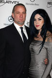 Kat Von D Jesse James royaltyfri foto