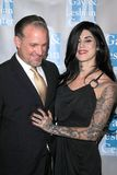 Kat Von D,Jesse James. Jesse James and Kat Von D  at the L.A. Gay and Lesbian Center's An Evening With Women, Beverly Hilton Hotel, Beverly Hills, CA. 04-16-11 Stock Photography