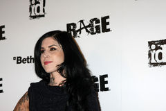 Kat Von D, Rage. LOS ANGELES - SEPT 30:  Kat Von D arriving at  the RAGE Game Launch at the Chinatowns Historical Central Plaza on September 30, 2011 in Los Royalty Free Stock Photo