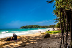 KATA Beach: Phuket, Tailândia Foto de Stock Royalty Free