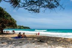 KATA Beach: Phuket, Tailandia Fotografia Stock
