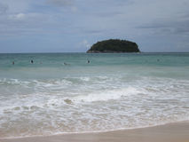 Kata Beach, Phuket, Thailand. Spectacular view of Kata Beach in a windy day, Phuket, Thailand Stock Images