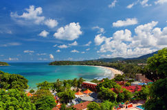 Kata Beach, Phuket, Thaïlande Images libres de droits