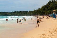 Kata Beach Thailand. Kata Beach in Phuket, Thialand.  Showing people enjoying themselves in the sun Stock Photography