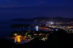 Kata en Karon-strandgezichtspunt Phuket, Thailand Stock Fotografie