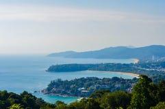 Kata and Karon beach view, Phuket Thailand Stock Photos