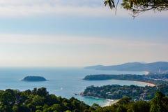 Kata and Karon beach view, Phuket Thailand Stock Image