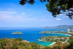 Kata and Karon beach View Point Phuket. Thailand Stock Images