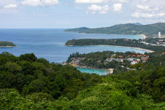 Kata, Karon, Patong View Point, Phuket , Thailand. Kata, Karon, Patong View Point, Phuket, Thailand. All 3 bays can be seen from this spot Royalty Free Stock Photos
