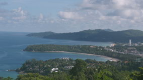 Kata and Karon Viewpoint in Phuket island thailand, timelapse stock footage