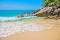 Kata Noi beach stone boulders Royalty Free Stock Image