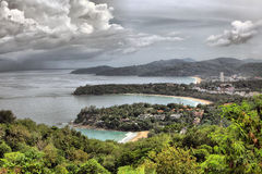 Kata NOI, plage de Kata et plage de Karon Photo stock