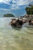 kata phuket острова пляжа Стоковая Фотография