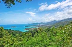 Kata punkt widzenia na Phuket wyspie Tajlandia, Kat, - Obrazy Royalty Free