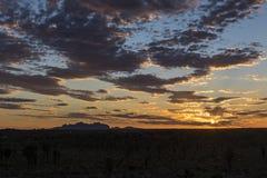 Kata Tjuta au coucher du soleil Photographie stock