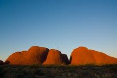 Kata Tjuta en la puesta del sol Imagen de archivo libre de regalías