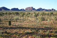 Kata Tjuta landscape. View over the famous Kata Tjuta rocks. Kata Tjuta (Olgas), Northern Territory, Australia Stock Photo