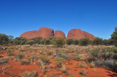 Kata Tjuta National Park em Austrália fotografia de stock