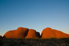 Kata Tjuta no por do sol Imagem de Stock Royalty Free
