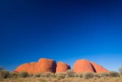 Kata Tjuta Olgas在澳洲内地澳大利亚 免版税库存照片