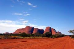 Kata Tjuta olgas, uluru ayer的岩石,在内地澳大利亚 库存照片