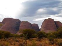 Kata Tjuta (Olgas)在Uluru国家公园 免版税图库摄影