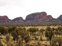 Kata Tjuta (Olgas)在Uluru国家公园 免版税库存照片