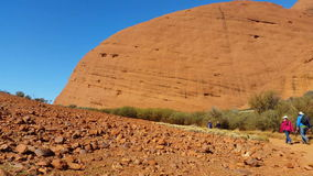 Kata Tjuta The Olgas Australian Landmark Outback Red Desert Landscape 4k. Kata Tjuta, The Olgas also known as Mount Olga, are a group of large domed rock stock video
